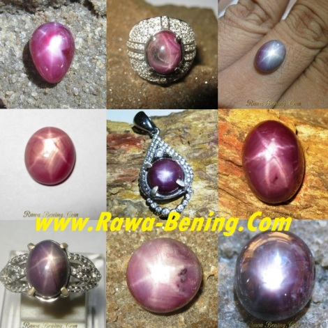 batu star ruby asli